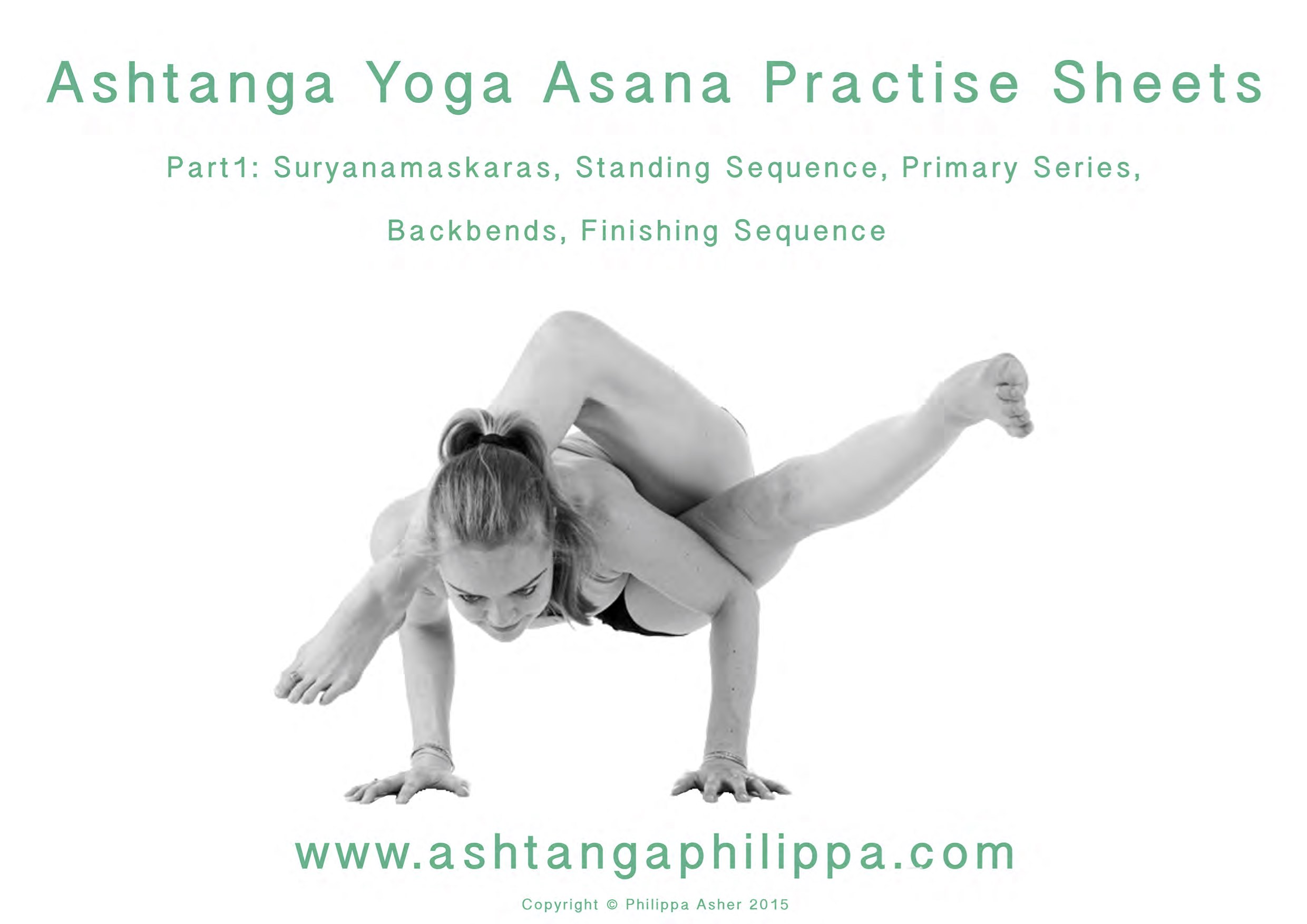 Ashtanga Practise Sheets Philippa Asher Kpjayi Certified Ashtanga Yoga